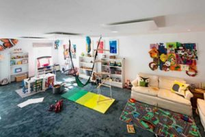Inspire white warming a previously damp playroom