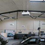 vehicle service bay heating