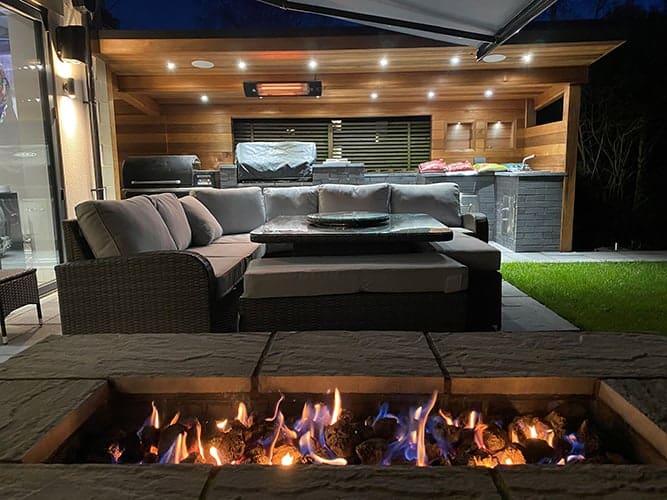 Herschel Colorado warming BBQ terrace area