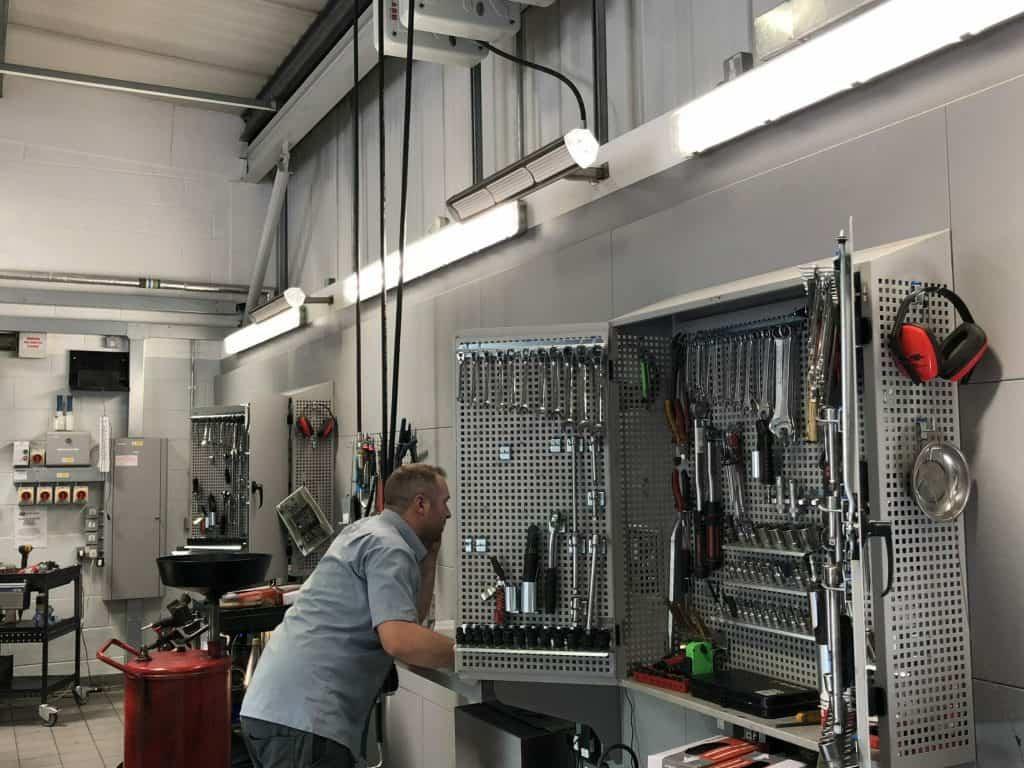 Wall Mounted Workshop Heater Herschel Advantage Ir