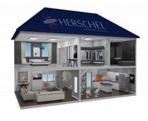 Herschel house infrared heating