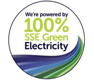 Powered by 100% SSE Green Electricity