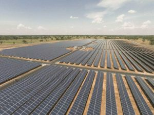 Solar panels making zero emissions electricity