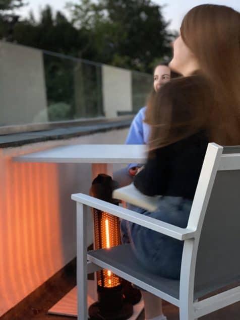 Havana 800 Watt under-table outdoor heater