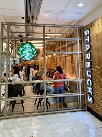 Starbucks heated by cafe