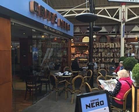 Caffe nero heated by Herschel