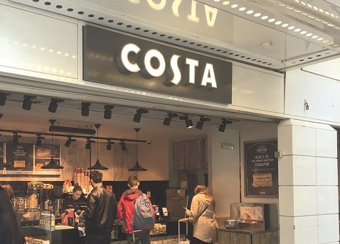 Costa Coffee warmed by Herschel infrared