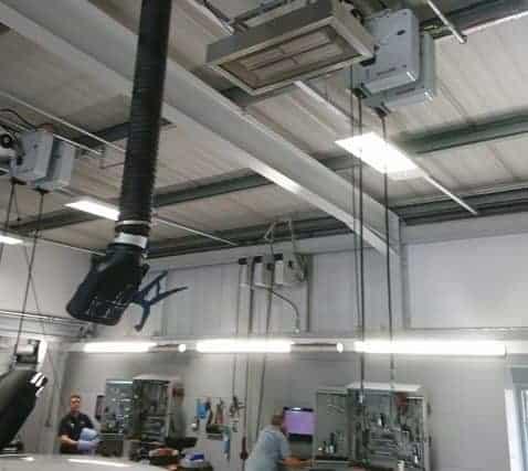 garage workshop heating at Snows Volvo