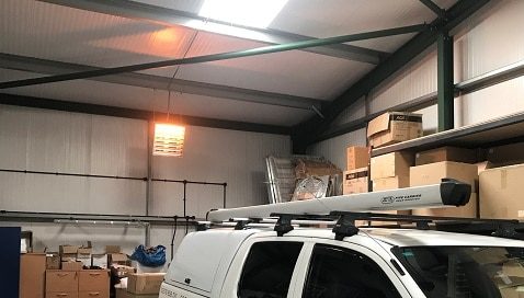 Vulcan warming garage space