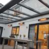 Herschel California Black infrared heaters warming home veranda