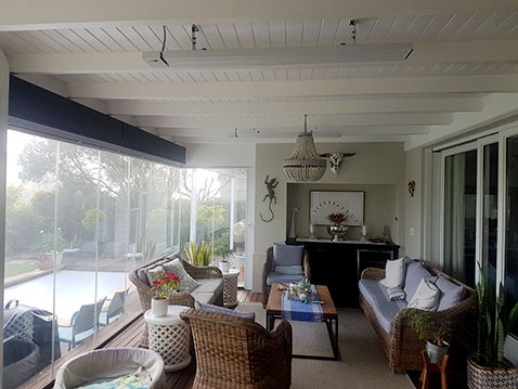 White Herschel Summits used in a garden room in South Africa