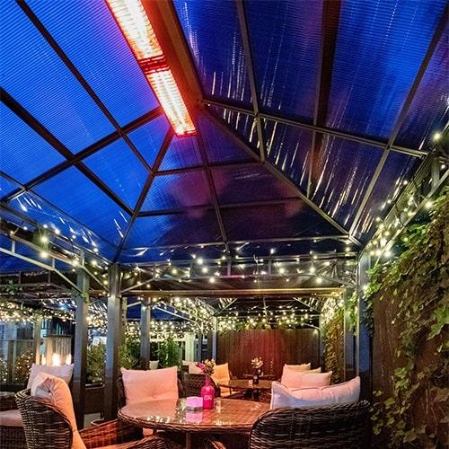 Herschel Manhattan heating for an outdoor gin bar