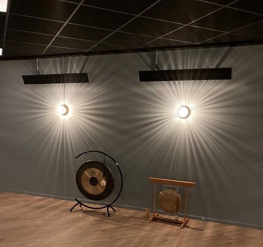 Herschel Summit radiant heaters for hot yoga classes